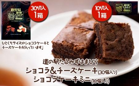 W-4502/【道の駅限定販売】たるみず天使のショコラチーズケーキ+天使のショコラケーキミニたるみず