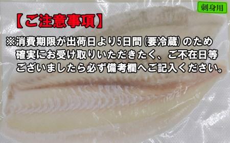 A1-3056/ヒラメロイン刺身用(冷蔵)半身
