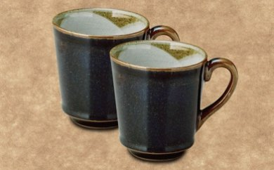 沈壽官窯 黒薩摩マグカップ