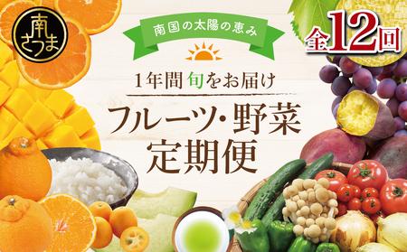 【定期便】南国の恵み 旬のフルーツ・野菜定期便(全12回)