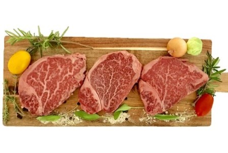 027-30 鹿児島県産黒毛和牛4等級以上ヒレステーキ3枚