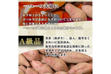 No.174 鹿児島県産紅はるか5kg(生芋)鹿児島県産サツマイモべにはるかを独自の貯蔵庫で熟成させ甘さ溢れる蜜芋に仕上げたさつまいも【甘いも販売所】