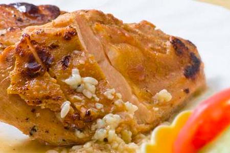 【2610-0397】種子島産インギー地鶏むね肉焼きあげステーキ塩・胡椒・たれ焼き上げ