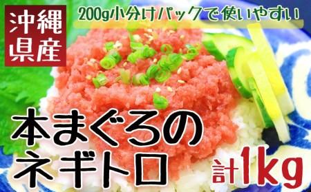 沖縄県産 本まぐろネギトロ 1kg(200g×5パック)