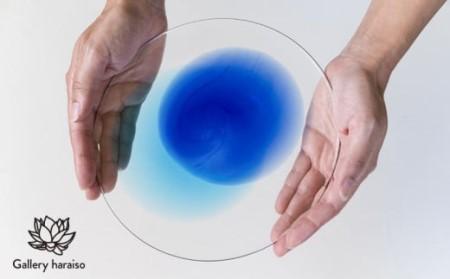 【琉球ガラス】うみいろプレート【青・水】