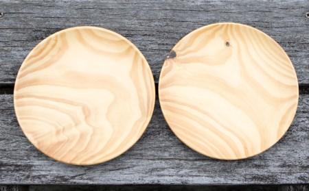 【やんばるの森の琉球松】平皿(大)&バターナイフセット