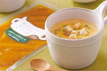 かぼちゃスープと漉しカボチャ使って味わうスープの素