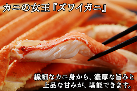 392.ズワイしゃぶポーション 500g 食べ方ガイド付 カニ かに 蟹 海鮮 北海道 鍋 しゃぶしゃぶ ズワイガニ
