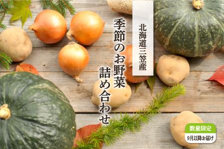 6.【R2発送予約】季節のお野菜詰め合わせ 秋(9月)