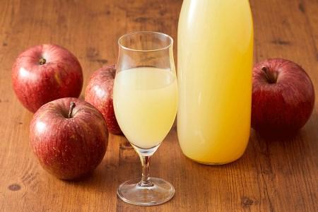 RT656 マル広農園果汁100%ストレートりんごジュース1L×2本