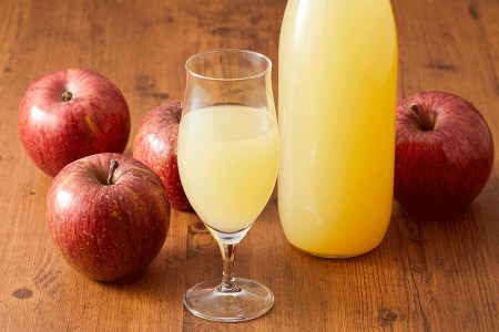 RT657 マル広農園果汁100%ストレートりんごジュース1L×4本