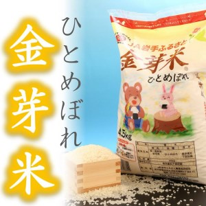 U064 30産金芽米ひとめぼれ4.5kg 【4,500pt】