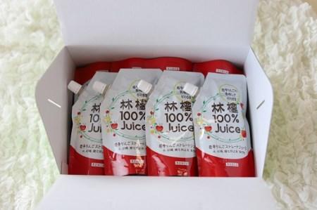 岩手県産りんご100% 無添加ジュース(パウチ200g×12個)