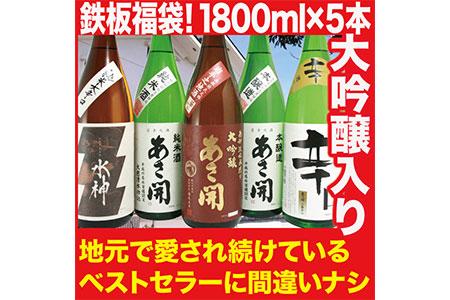 1804【あさ開】大吟醸入り!鉄板ベストセラー 日本酒福袋 1800ml×5本セット