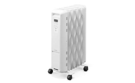 ウェーブ型オイルヒーター マイコン式 IWH2-1208M-W ホワイト