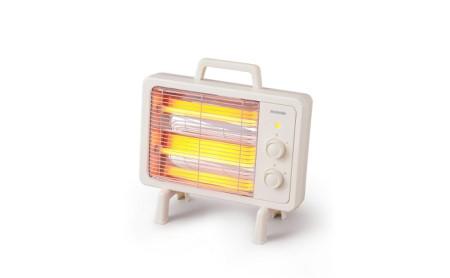 遠赤外線電気ストーブ 小型 遠赤外線ヒーター IEHD-800 アイボリー