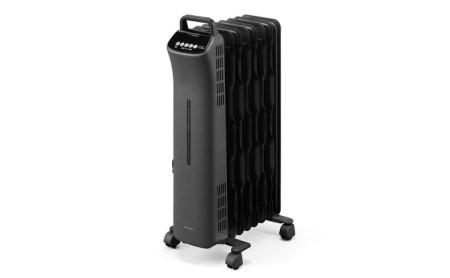 ウェーブ型オイルヒーター マイコン式24h入切タイマー付 IWHD-1208M-B ブラック