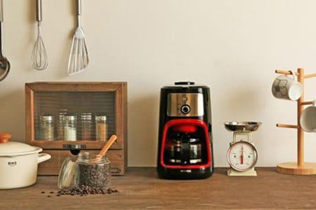 全自動コーヒーメーカー IAC-A600 レッド/ブラック