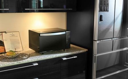 電子レンジ フラットテーブル ミラーガラス MO-FM1804-B