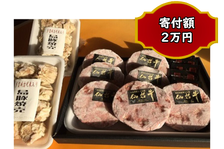 B009 仙台牛ハンバーグと多賀城産古代米入焼売