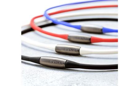 磁気ネックレス「EXNAS(エクナス)D1」(42cm)全4色[黒白青赤] 青