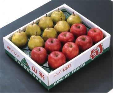 FY18-034 山形市産 ふじりんごとラ・フランスセット 約5kg(16個)