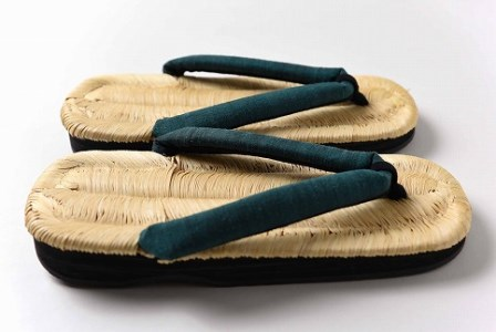 【碧緑(へきりょく)】 熟練の職人が魂を込めて編み上げる 「豊国草履」 男性用 030-H01-碧緑