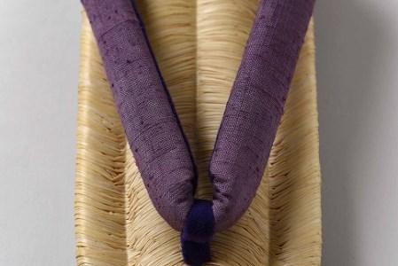 【藤紫(ふじむらさき)】 熟練の職人が魂を込めて編み上げる 「豊国草履」 女性用 030-H02-藤紫
