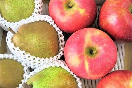 0075-2012 ラ・フランスとサンふじりんご詰合せ 5.5kg ご家庭用