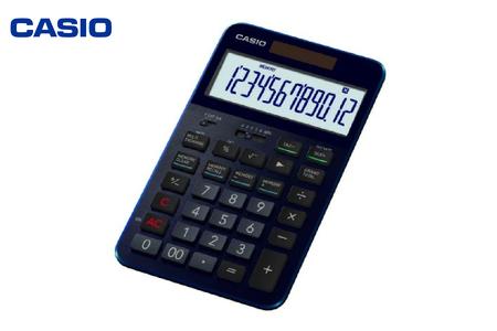 C-0059 CASIO・プレミアム電卓 S100BU(カラー:ネイビーブルー)
