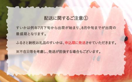 【JA】尾花沢すいか6Lサイズ(約11~12kg)×1 (8月上旬~中旬頃発送)N61