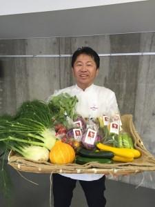 B71 旬のかほくイタリア野菜料理食事券(奥田シェフのお店優先予約)