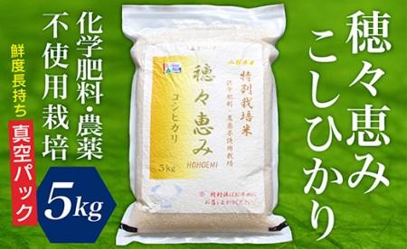 F015-003 特別栽培米 穂々恵み コシヒカリ5㎏(真空パック)