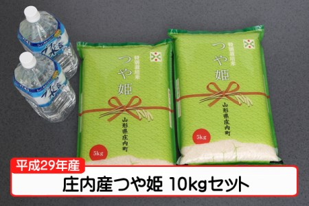 【A141】平成29年庄内町産つや姫10kgセット(3月発送)