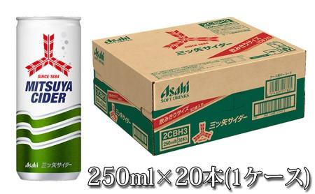 人気炭酸飲料三ツ矢サイダー250ml×20本(1ケース)