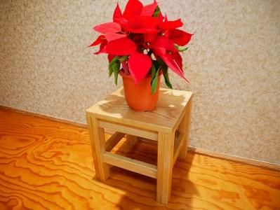 木工職人が作る お洒落なフラワースタンド