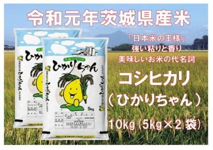 C-1-1【令和元年産】コシヒカリ(ひかりちゃん)10㎏(5㎏×2袋)