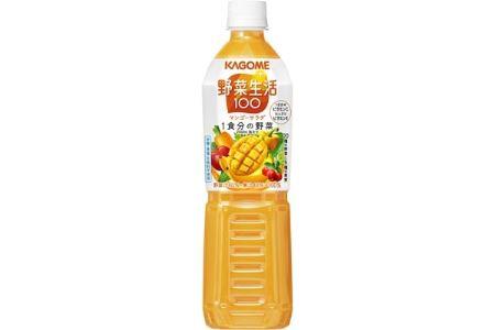 カゴメ 野菜生活100(マンゴーサラダ)720ml PET×15本【1119893】