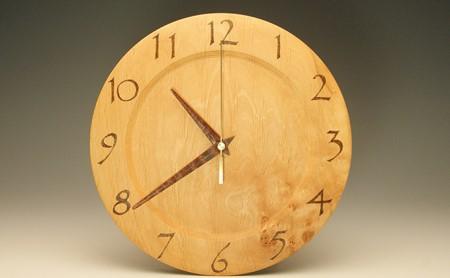 木の時計 榛の木 24.7cm