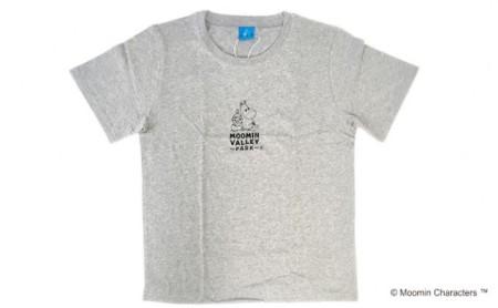 ムーミン ロゴベーシックTシャツ(グレー) L