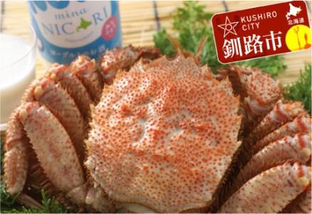 [Ka403-B152]釧路福司 リキュールヨーグルトのお酒 みなニコリと毛がにの400gセット