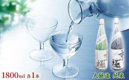 名水酒京極 純米酒・本造り 1升×2本