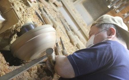 スリ漆ケヤキ尺三寸木鉢