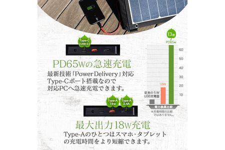 災害時などに電源として使える 3つ折りソーラーパネル電源 120W OWL-SLP120W-BK オウルテック