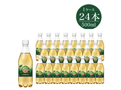 炭酸飲料 カナダドライ ジンジャーエール500ml×24本