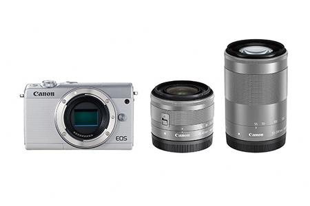 [№5820-0084] ミラーレスカメラ EOS M100 ダブルズームキット(ホワイト)