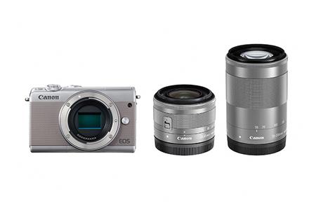 [№5820-0085] ミラーレスカメラ EOS M100 ダブルズームキット(グレー)