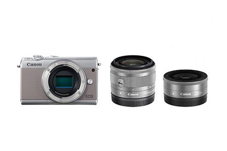 [№5820-0088] ミラーレスカメラ EOS M100 ダブルレンズキット(グレー)