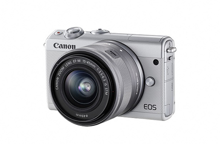 [№5820-0090] ミラーレスカメラ EOS M100 レンズキット(ホワイト)