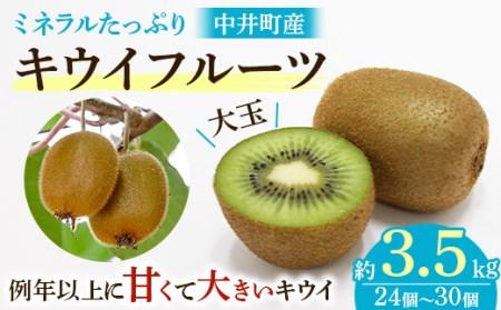 【農薬不使用】ミネラルたっぷり中井町産キウイフルーツ約3.5kg【1055342】
